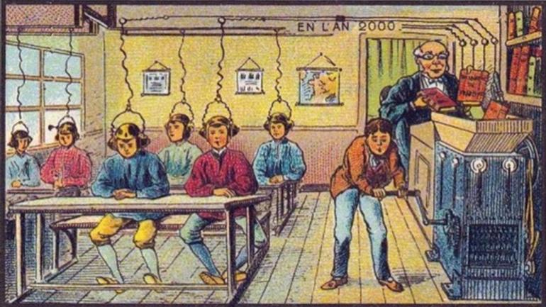 La classe de l'an 2000 à l'exposition universelle de 1900.